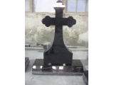 The Granite Black Cross Headstone