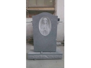G635 Mary Carving Headstone