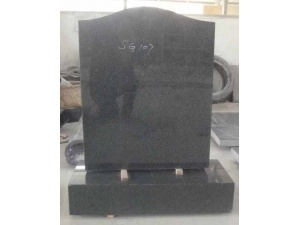 Dark Grey G654 Ogee Headstone