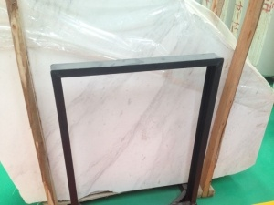 Polished Slip Pull White Marble