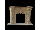 Egypt Cream Marble Fireplace Mantel