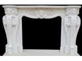 China White Marble Fireplace Beautiful