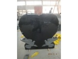 Shanxi Black Heart Headstone With